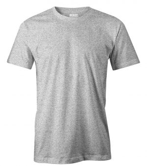 mens crew-neck plain t shirt grey marl sri lanka
