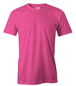 mens crew-neck plain t shirt hot pink sri lanka