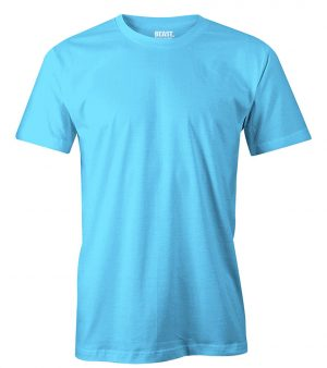 mens crew-neck plain t shirt ice blue sri lanka