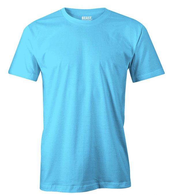 mens crewneck plain t shirt ice blue sri lanka