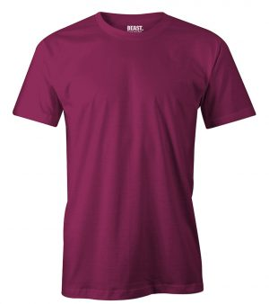mens crew-neck plain t shirt maroon sri lanka