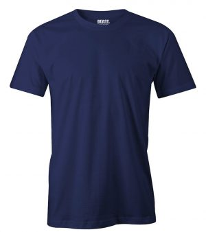 mens crew-neck plain t shirt navy blue sri lanka
