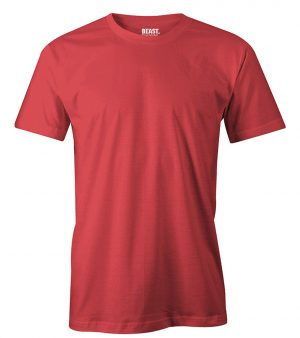 mens crew-neck plain t shirt red sri lanka