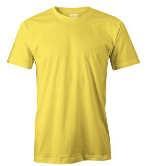mens crew-neck plain t shirt yellow sri lanka