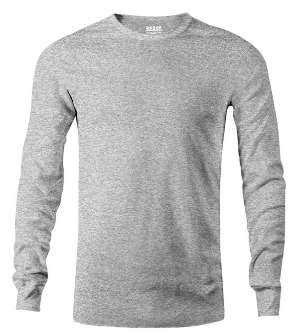 mens long sleeve t shirt grey marl sri lanka