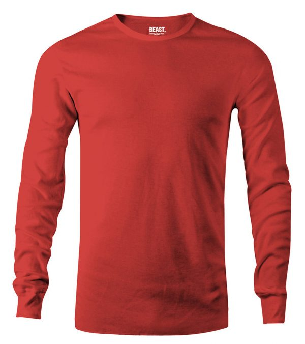 mens long sleeve t shirt red sri lanka