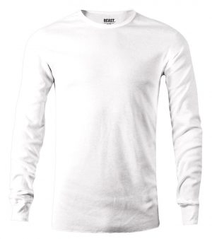 mens long sleeve t shirt white sri lanka