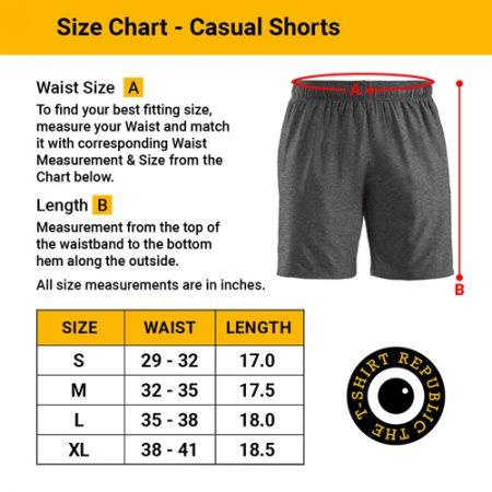 Size Chart Men's Casual Shorts